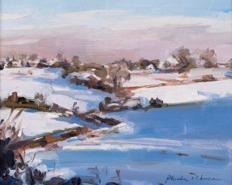 A snowy English morning