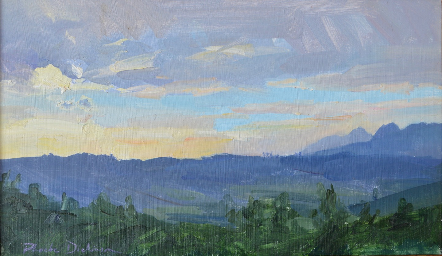Sunset sketch in the mountains