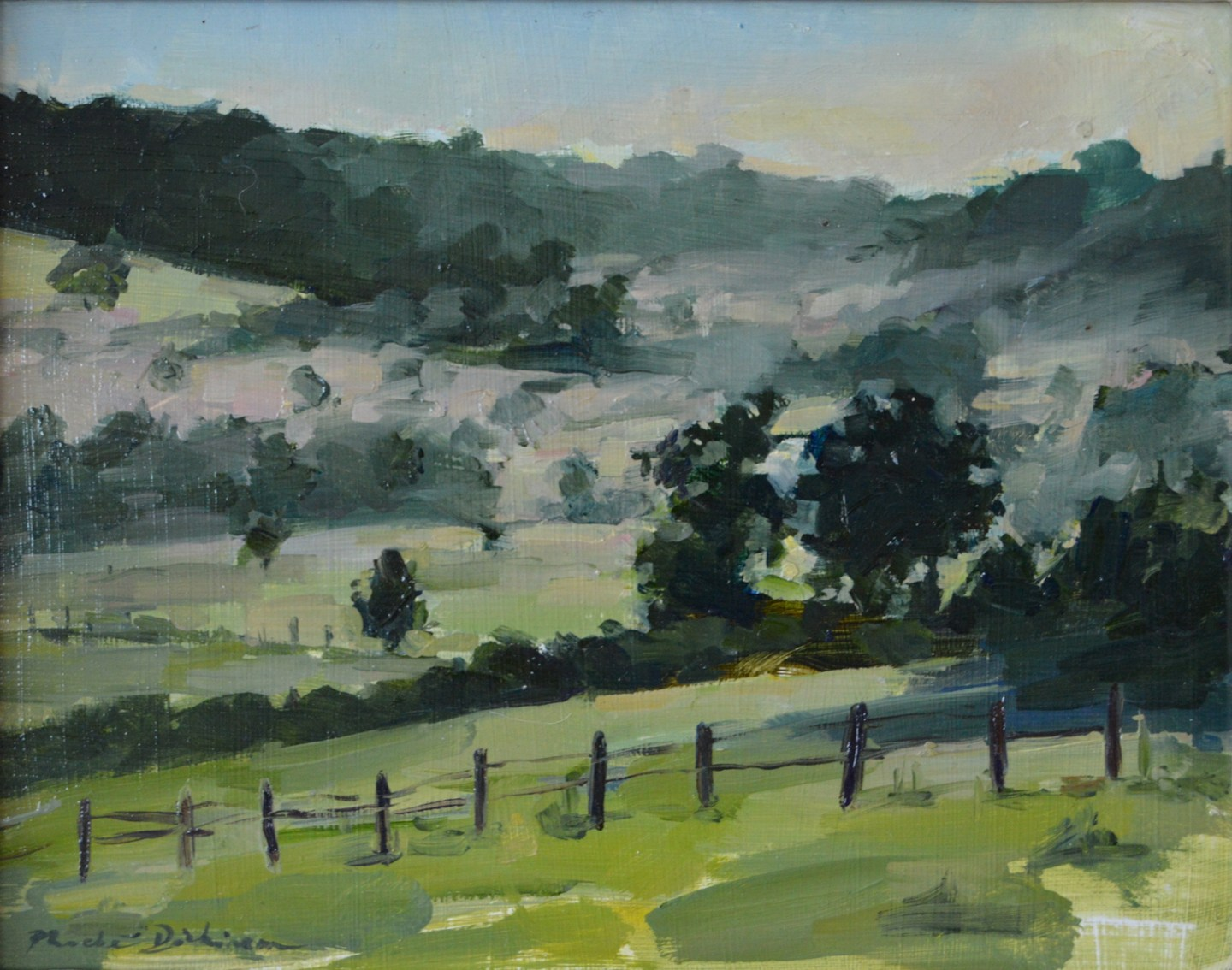 Mist in an English valley