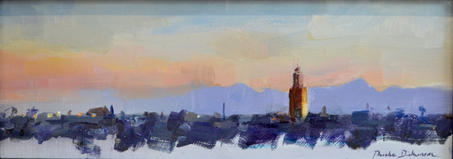 Sketch of dawn over Marrakech