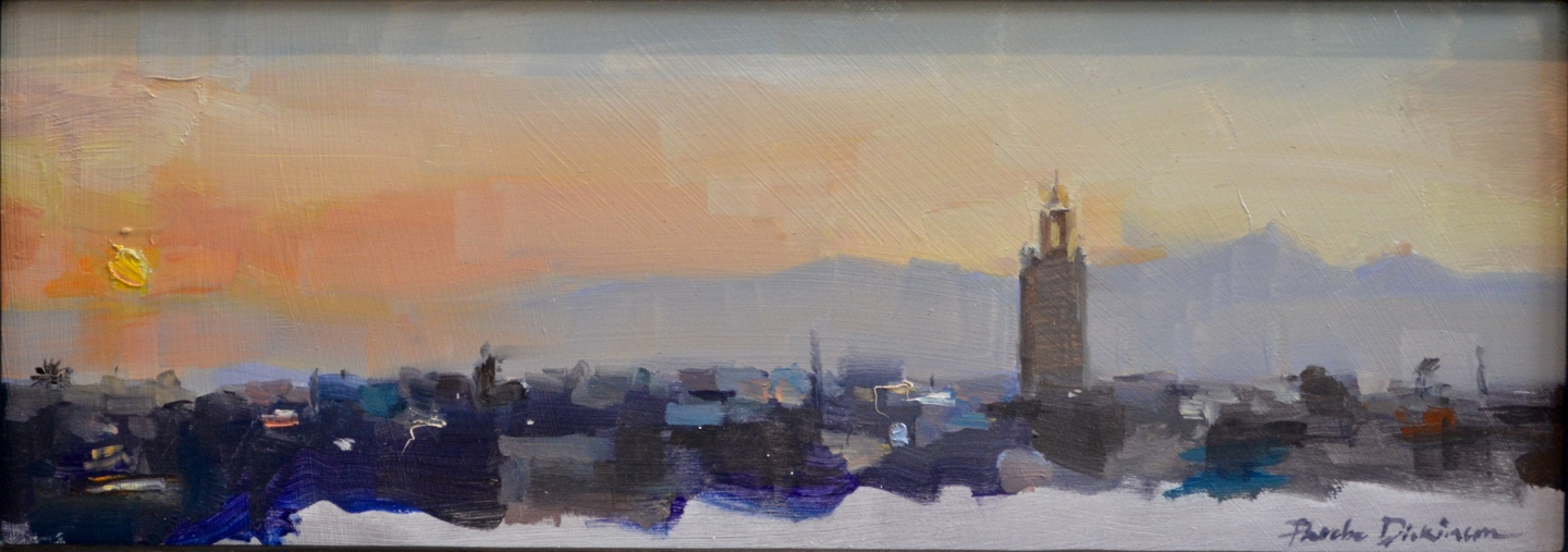 Sketch of sunrise over Marrakech