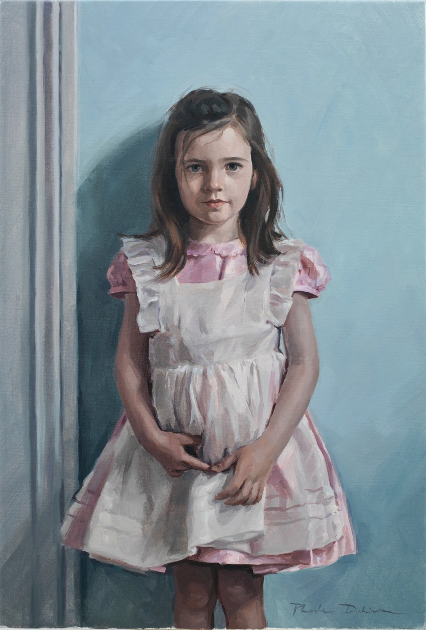 Girl in a pinafore